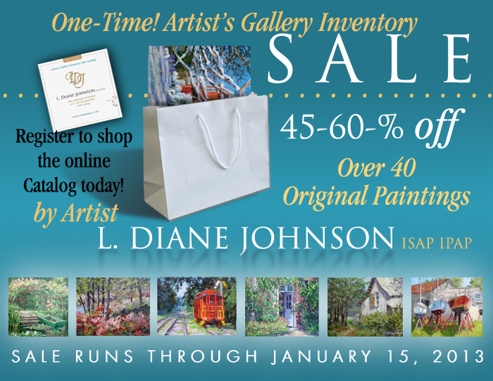Mega Original Landscapes Sale: L Diane Johnson Fine Art
